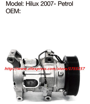 Automotive air conditioning compressor for hilux,vigo,compressor Efficient refrigeration Petrol version hilux compressor 10S11C 119906