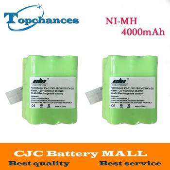 2PCS 4000mAh 7.2V Ni-MH Spare Battery For Neato XV-11 XV-12 XV-14 XV-15 XV-21 XV-25